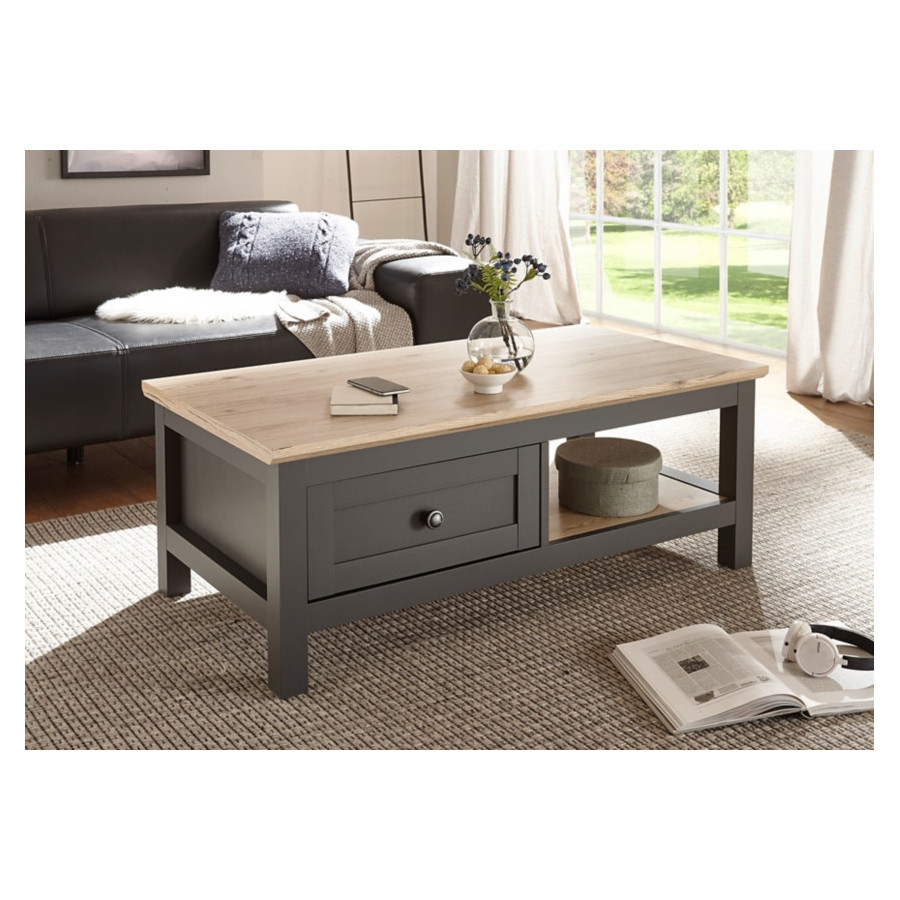 Table Basse Bocage Chene San Remo Gris Anthracite Table Basse But