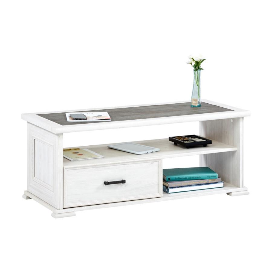 Table basse CAMILLE Chêne blanchi/gris